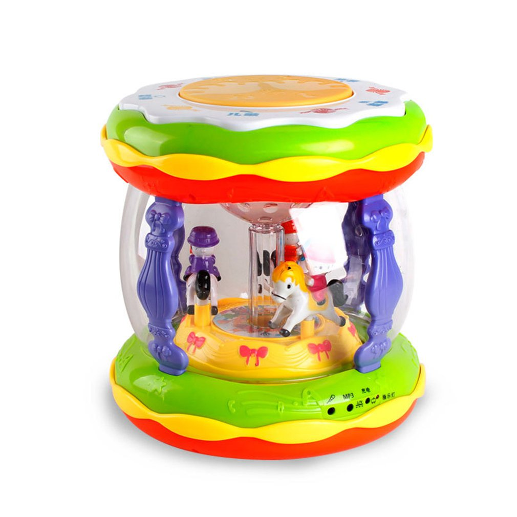 Early Childhood Education Puzzle Carousel Music Hand Drums Rechargeable Mp3 Microphone Early Education Story Machine
