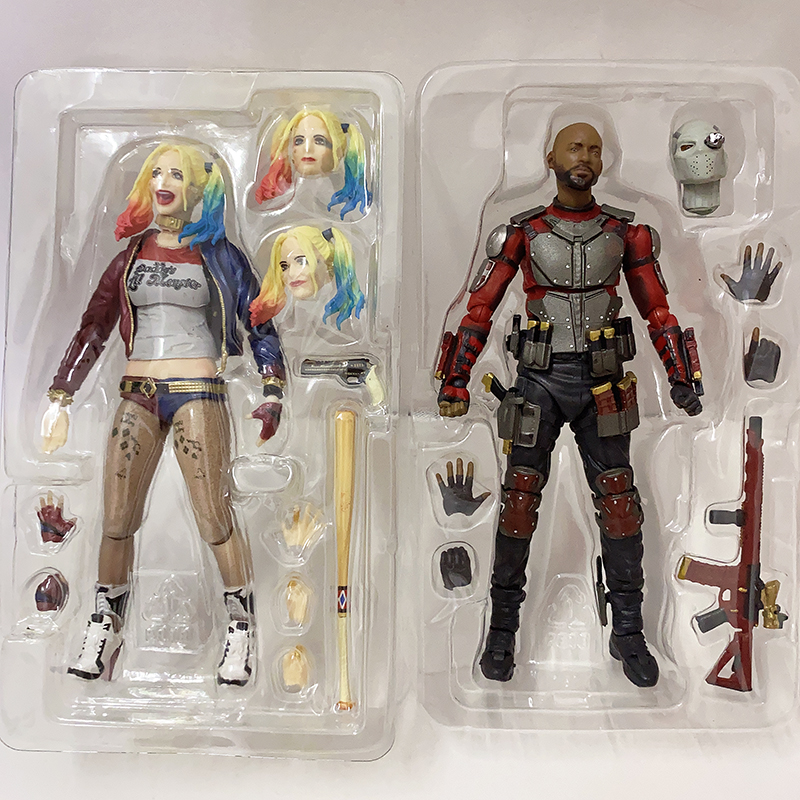 Suicide Squad Sexy Harley Quinn Figure Deadshot Death Shooter Figure SHF Suicide Squad Harley Quinn Action Figure Toys Doll Gift