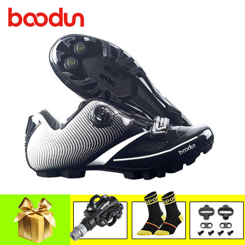BOODUN Mountain bike shoes 2019 Men women cycling shoes sapatilha ciclismo mtb self-locking breathable spd pedals riding shoes