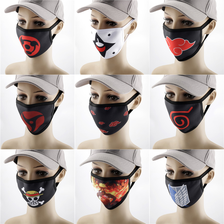 Cosplay Mask Anime Mask Naruto Attack On Titan Tokyo Ghoul La Casa De Papel Money Heist Mask Dropshipping Masque