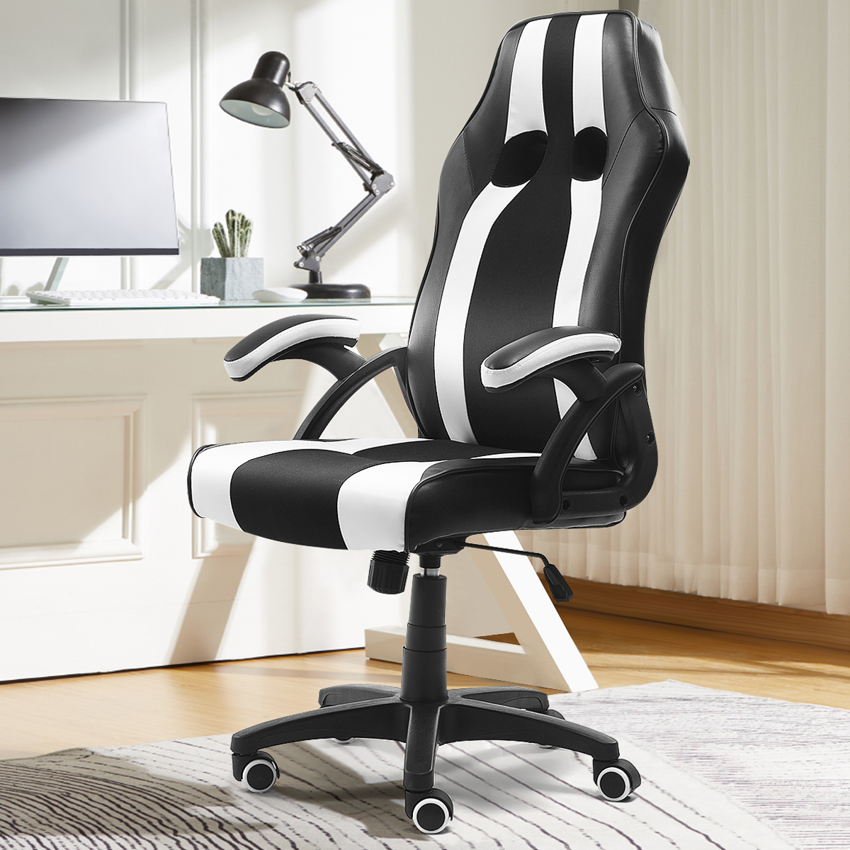 Bureaustoelen Verstelbare Liggende Gaming Stoel Swivel Hoge Rug Executive Bureau Computer Stoel Fauteuils Meubels