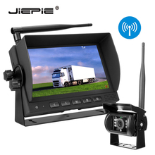купить Digital Wireless Backup Camera System Kit 7'' Monitor Built in DVR and Rear View Reverse Camera Kit for Truck/Trailer/Bus/RV/Van дешево