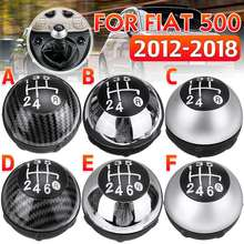 5 Speed 6 Speed Car Styling Gear Shift Knob Lever Shifter Gear Knob Hand Ball For Fiat 500 2012 2013 2014 2015 2016 2017 2018