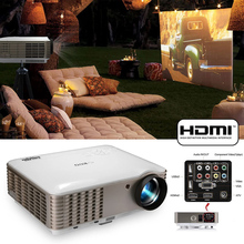 X88 LED Projector 6000 Lumens 1280*800P Support 1080P Videos Portable 3D video C