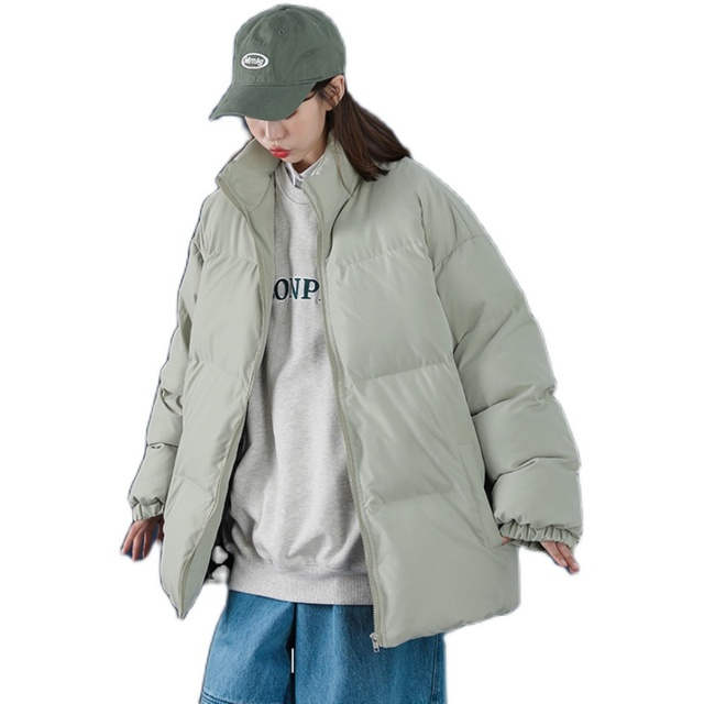Winter Jacket Men Parkas Thicken Warm Coat Mens Stand Collar Jackets Solid Color Parka Coat Women Fashion New Streetwear 5XL 5