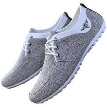 Mocassins andando sapatos masculinos sapatos casuais 2021 primavera laço-up venda quente suor-absorvente respirável novas tênis de lona casuais