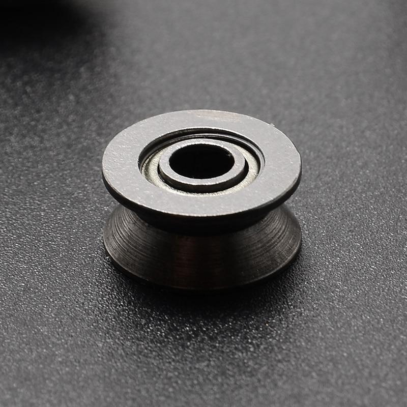 50pcs 624VV V624ZZ V Groove Sealed Track Pulley Guide Rail Ball Bearing 4x13x6mm