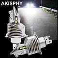 Авто светодиодный H4 фары лампы 60/55W лампы мотоцикла 12000LM HS1 света Высокий Низкий Луч Hi/короче спереди и длиннее сзади), работающего на постоян...
