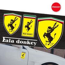 Noizzy Fala osioł Ho śmieszne naklejki samochodowe zabawa Vinyl Auto naklejka odblaskowe całego ciała samochodowe złoto zewnętrzne Tuning Car Styling
