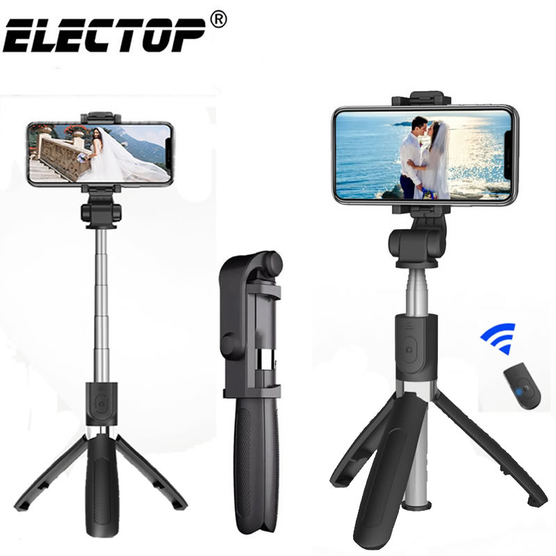 Bluetooth селфи-палка со штативом, селфи-палка из пластикового сплава для телефона, смартфона, Iphone, Samsung, Huawei