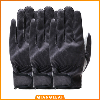 QIANGLEAF 3pcs  Men's High Quality Leather Work Safety Gloves Mechanic Working Gloves Women's Gardening Protective Glove 2720 qiangleaf 3pcs new free shipping protection glove d grade cowhide yellow ultrathin leather safety work gloves wholesale 527np