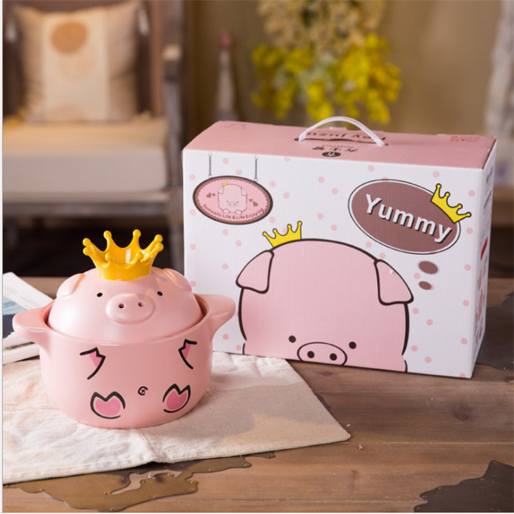 Cartoon Ceramic Casserole Pig High Temperature Pot 1