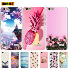 For huawei honor 4C case Soft TPU Silicon transparent back Phone Cover 360 full protective fundas rinting clear coque bumper(China)