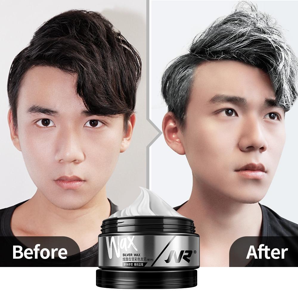 JVR 80g Temporary Hair Color Wax Men Women One-time DIY Hair Dye Molding Paste Dye Cream Hair Mud For Hair Coloring Styling Grey 3