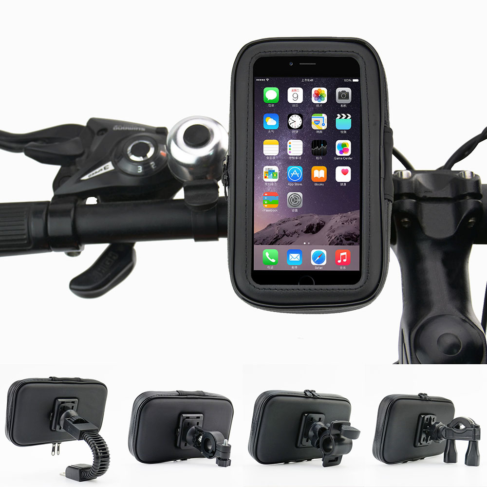 Waterproof Motorcycle Phone Holder Bracket Mount Bag Replacement Handlebar