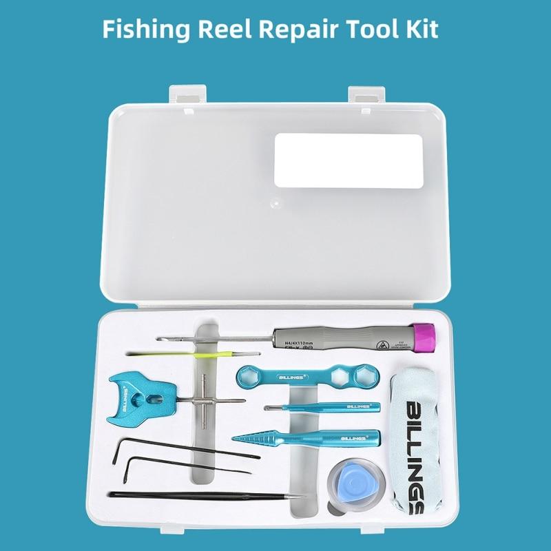 DIY Modified Fishing Wheel Disassembly Set Repair Kit Baitcasting Fishing Reel Maintenance Tools Stainless Steel Spool Locator