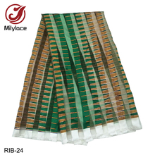 Fashionable African Printed Organza and ribbon Fabric thick Ribbon transparent fabric for women and man 14 designs available
