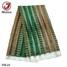 Modische Afrikanische Gedruckt Organza und band Stoff dicke Band transparent stoff für frauen und mann 14 designs verfügbar