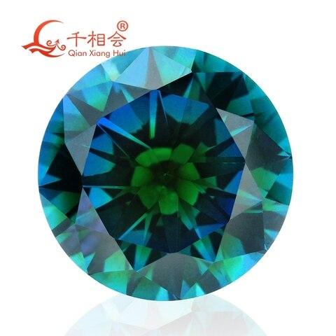 Forma Redonda Zircônia Cúbica Cor Especial Uma Vez Formando Multi Azul-verde cz Solta Pedra Tz006