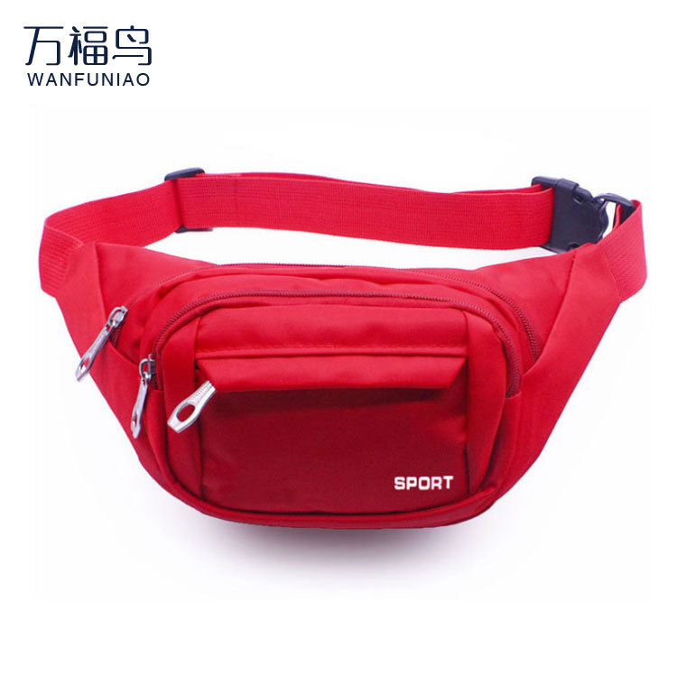 Fashion Casual Oxford Cloth Sports Outdoor Riding Multi-functional New Style Men's Women's Mobile Phone Waist Bag