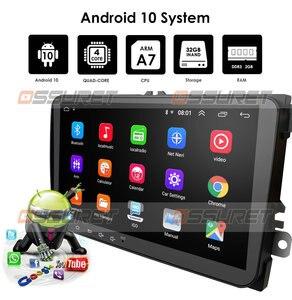 Image 4 - Samochodowy odtwarzacz DVD dla Seat Altea Leon Toledo volkswagen Passat Skoda seria GPS stereo audio nawigacja, Android 10 2 DIN Redio