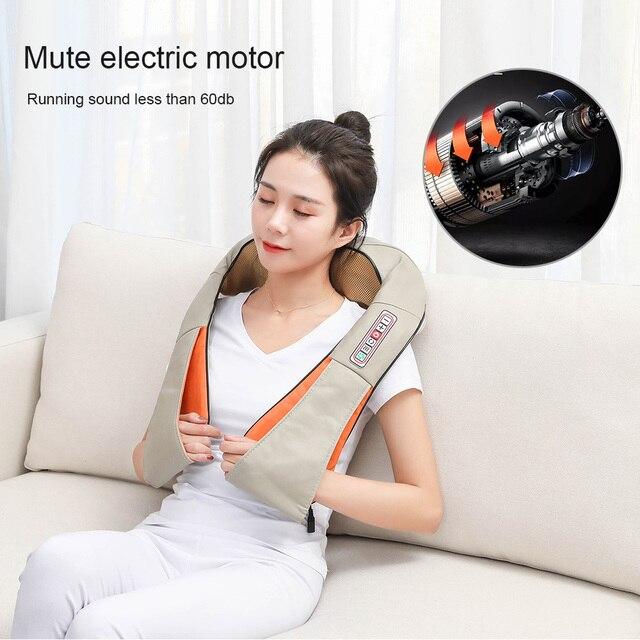 U Type Electrical Car/Home Massage Shiatsu Back Shoulder Neck Massager Multifunctional Shawl Infrared Heated Kneading Massager 3