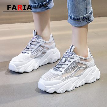 Breathable off white shoes Mesh sneakers casual women shoes Lace-Up Spring/Autumn summer tenis feminino loafers Trainers Women's