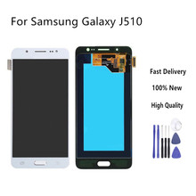 Top quality For Samsung Galaxy J5 2016 J510 LCD Display Touch Screen J510FN J510F J510M J510H /DS Screen Adjust Brightness(China)