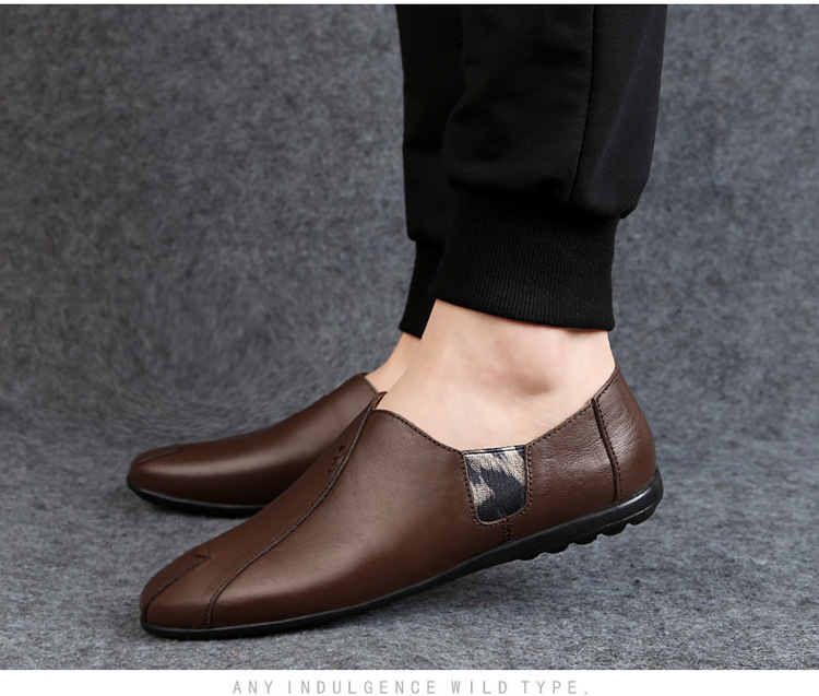 Solid Spring Autumm Casual Loafers Shoes for Men Classics Concise Light Flat Slip On Shoes Fashion Leisure Driving Shoes 54