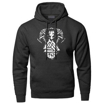 Athelstan Hoodies Men Odin Vikings Sweatshirts Son Of Odin Hooded Sweatshirt Sons Of VikingWinter Autumn Valhalla Sportswear 2