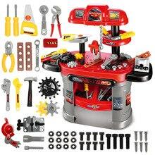 Original Disney Children's Boy Toolbox Toy Set  Simulation Repair Box Tool Table Baby Screw Assembly