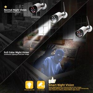 Image 4 - HD 1080P 5 Мп Wifi IP камера наружная беспроводная Onvif полноцветная камера видеонаблюдения с ночным видением цилиндрическая камера безопасности со слотом для TF карты APP CamHi
