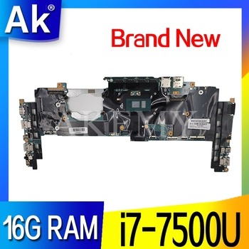 16822-1 LRV2 MB 448.0A913.0011 Mainboard For Lenovo ThinkPad Yoga X1 Laptop Motherboard i7-7500 16GB RAM 01YR149 100% Test