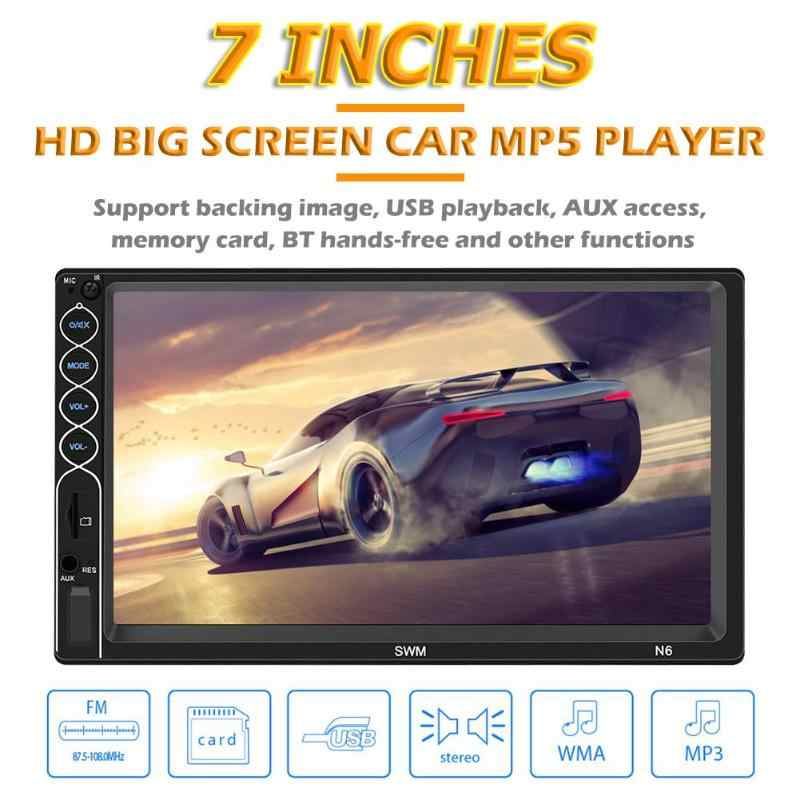 SWM N6 2 DIN Mobil Stereo Video MP5 Pemain 2din 7 Inch Touch Screen Bluetooth USB AUX FM Mobil Radio kamera Cadangan Multimedia Player