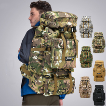 цены 70L Military Tactical Backpack Outdoor Sports Bag Waterproof Camping Backpack Hiking Trekking Climbing Fishing Hunting Bags