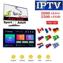 Stable Iptv Subscription Europe Full HD Spain Portugal Include VOD Adult Channels Work for Smart tv M3U Android Device