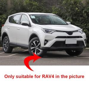 Image 2 - Vcry plaque de protection de talon de porte intérieure en acier inoxydable, pour Toyota RAV4 2013 2018, accessoires capots de bordure