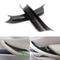 Car Styling Interior Carbon Fiber Texture Door Pull Handle Protective Cover Trim For BMW X5 X6 E70 E71 F15 F16