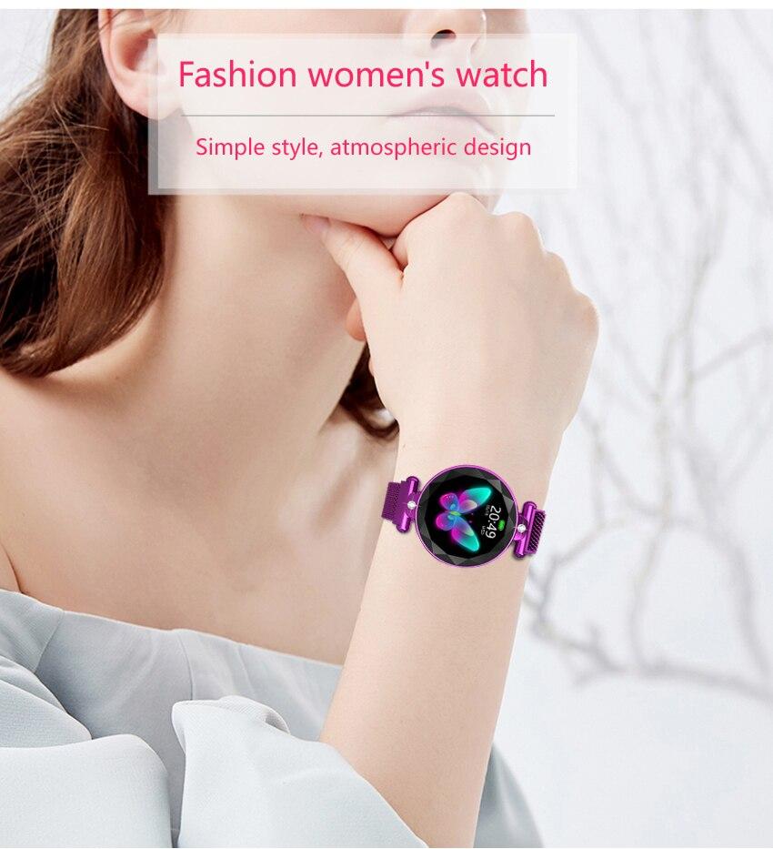 Montre intelligente femmes Bracelet de Fitness IP68 étanche