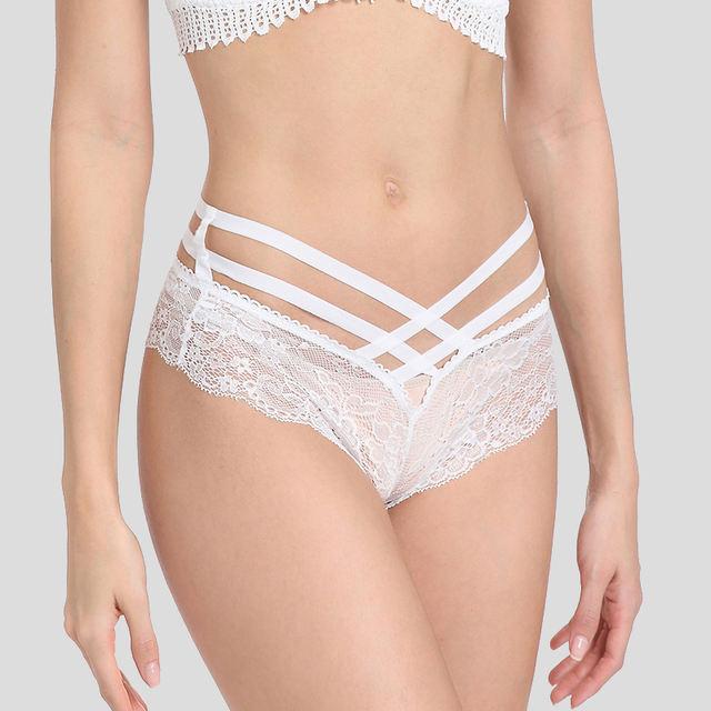 Sexy Female Underwear Lace Cross Strap Lingerie Women G-string Thong