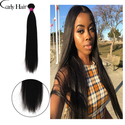 Curly Hair Malaysian Straight Hair Weave Bundles For Black Women Long Natural Color 100% Human Hair Bundle Raw Virgin Remy Hair