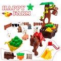 Аксессуары для строительства животных, ферма, лошади, Детские кубики, Eduactional игрушки для детей, совместимы с фирменными блоками, сделай сам, ...