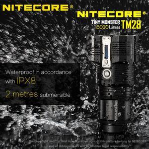 Image 5 - Светодиодный фонарик NITECORE TM28, 4 * CREE XHP35 HI, 655 лм, дальность луча 18650 м, с зарядным устройством, 4 шт. литий ионных аккумулятора 3100 мАч