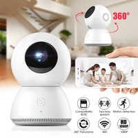 MiJia радионяня 1080P 360 градусов домашняя панорамная WiFi ip-камера с датчиком движения ночное видение волшебный 4-кратный зум CCTV