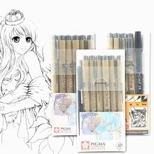 Waterproof Pen Markers-Set Micron-Pen Drawing-Painting Soft-Brush Pigma 01 02 05 03 04