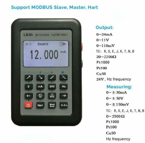 LB06 Hart Modbus 4~20mA/0~10V Process Calibrator Current Signal Generator Source
