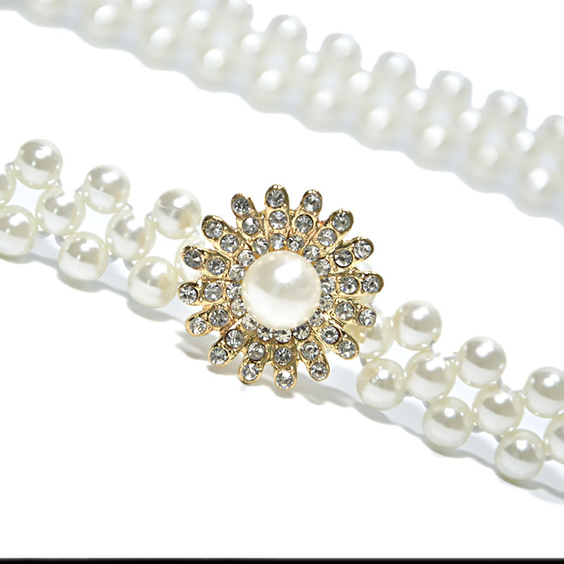 Rhinestone-Chain Dress Belts Clothes-Accessories for DIY Headpiece Jewelry-Making Sunflower-Pearls-And-Crystal-Trim