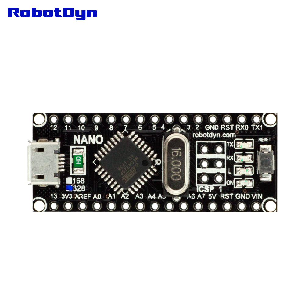 RobotDyn NANO V3 ATmega328,CH340, Micro USB, Upgrade Version Compatible With Arduino  For DIY Electronic