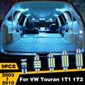 9 шт. светодиодный Автомобильные светодиодные лампы для багажника VW Touran 1T1 1T2 2003 2004 2005 2006 2007 2008 2009 2010