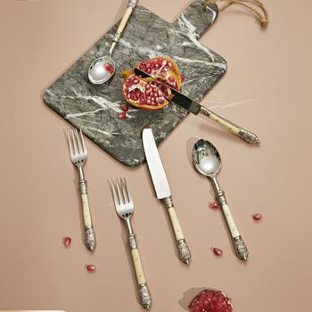 Kreatywny luksusowy widelec nóż łyżka zestaw sztućce stół Nordic przyjazne dla środowiska zestawy naczyń stołowych prezent Servies zestaw obiadowy CreativeDF50CJ tanie i dobre opinie Mrs win CN (pochodzenie) Zachodnia Stałe Ekologiczne Flatware Sets Łyżka widelec nóż zestaw CN(Origin) Western Solid